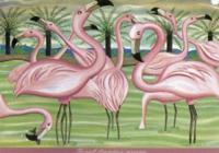 The pink flamingoes' company