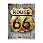 Route 66 - Golden sign